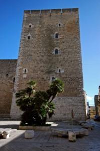la torre dell'imperatrice nel castello federiciano a Gioia del Colle