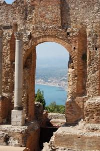 Panorama dal teatro greco