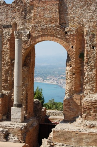Taormina - Panorama dal teatro greco