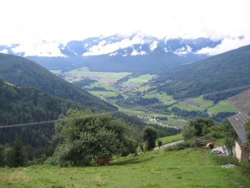 Brunico - vista sulla Val Pusteria