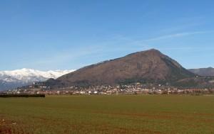 Veduta di Piossasco e del monte san Giorgio.
