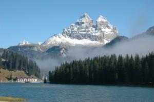 Misurina, la nebbia e le Tre Cime
