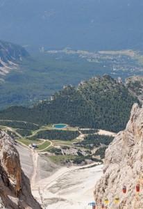 Vista su Cortina dal rifugio Lorenzi
