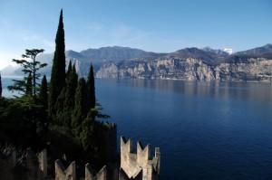 Veduta del Lago di Garda dal castello Scaligero di Malcesine
