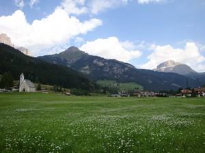 paesaggio di Mazzin, Val di Fassa