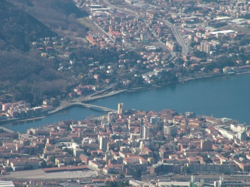 Lecco - Centro di Lecco e Ponte Kennedy dal Pizzo d'Erna