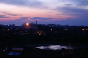 Panorama di Cervignano di sera