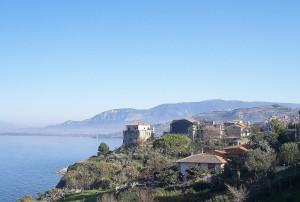 Panorama di Agropoli , venendo da Trentova