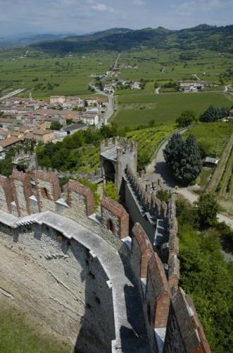 Soave - panorama dalla torre del castello