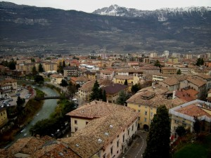 panorama di Rovereto dal castello
