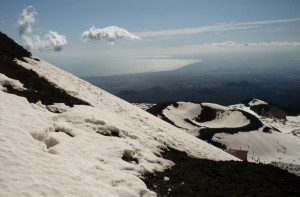 Vista del mare dall'Etna