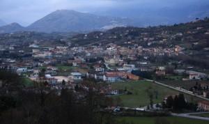 Veduta di Atina Inferiore dalla parte alta di Atina…
