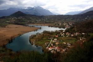 Veduta del lago di Posta Fibreno, da cui ha origine l'omonimo fiume…