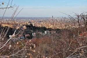 Bologna vista dall'alto dei colli