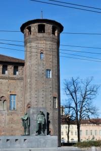 La torre del Castello che guarda via Po
