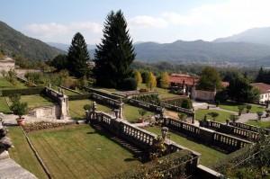 Panorama da Villa Bozzolo a Casalzuigno (Varese)