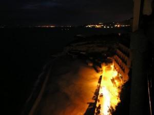 Tropea, Spiaggia della Rotonda in una sera d'inverno…