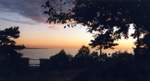 Tramonto sul mare del golfo di Trieste