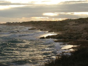 Sabbia,rocce e case a Campomarino