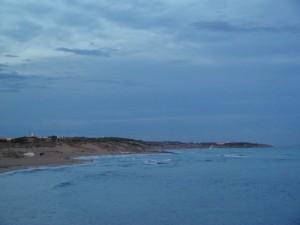 Lembi di spiaggia di Campomarino al tramono