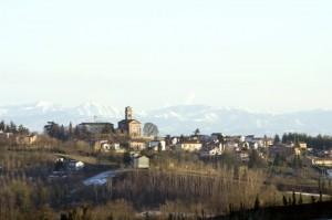 Il paese di Castelletto Monferrato.