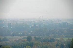 Nebbia sull'arco delle Olimpiadi Invernali TO 2006