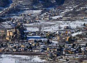 Saint Pierre vista da Aymavilles