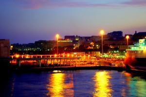 I colori del porto una sera d' agosto