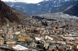 Panorama di Tirano e del Campone