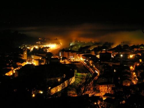 Spoleto - Spoleto, notte nebbiosa...