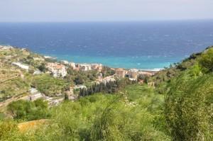 Il mare di Bordighera visto dal Palmeto di Monet