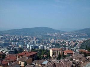 Veduta di Perugia moderna