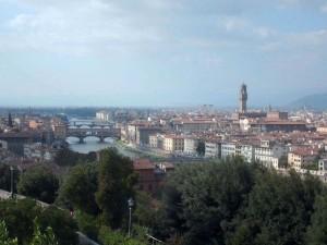 Veduta di Firenze e l'Arno d'argento…