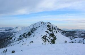 la cima del monte Nero
