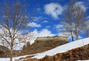 Castello di Graines, vista sud