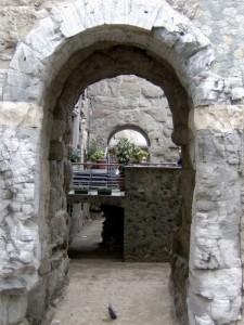 Particolare della Porta Pretoria ad Aosta