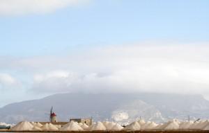 Montagne di sale e mulino a vento
