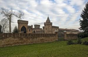Giochi di nuvole al castello