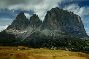 Le cime del Sassolungo dal Passo Sella