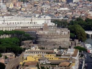 "Veduta ""aerea"" di Castel Sant'Angelo"