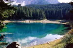 Panorama Lago di Carezza, verso Ovest