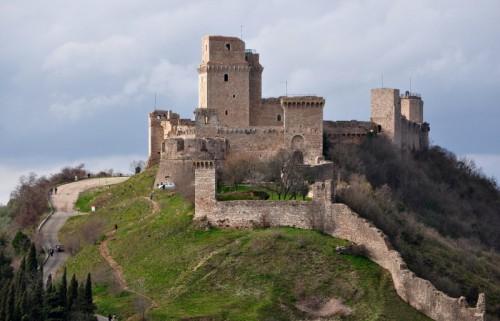 Assisi - Assisi: La rocca maggiore - primo piano