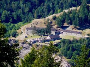 Il forte Bramafam visto dall'alto