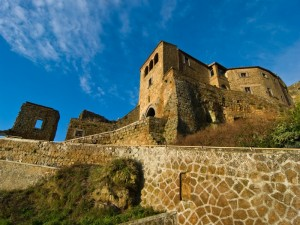 Civita - l'accesso al borgo