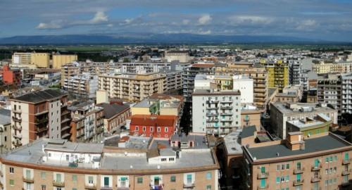 Foggia - Panorama con il Gargano sullo sfondo