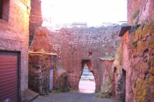 Castello Farnese, l'interno del torrione … ferito.