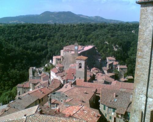 Sorano - Sorano visto dalla Fortezza