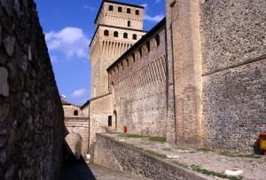 Il Castello di Torrechiara visto nel suo interno