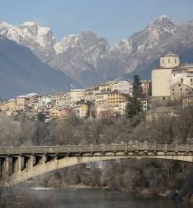Belluno, città sul fiume Piave
