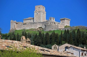 Rocca maggiore da Assisi